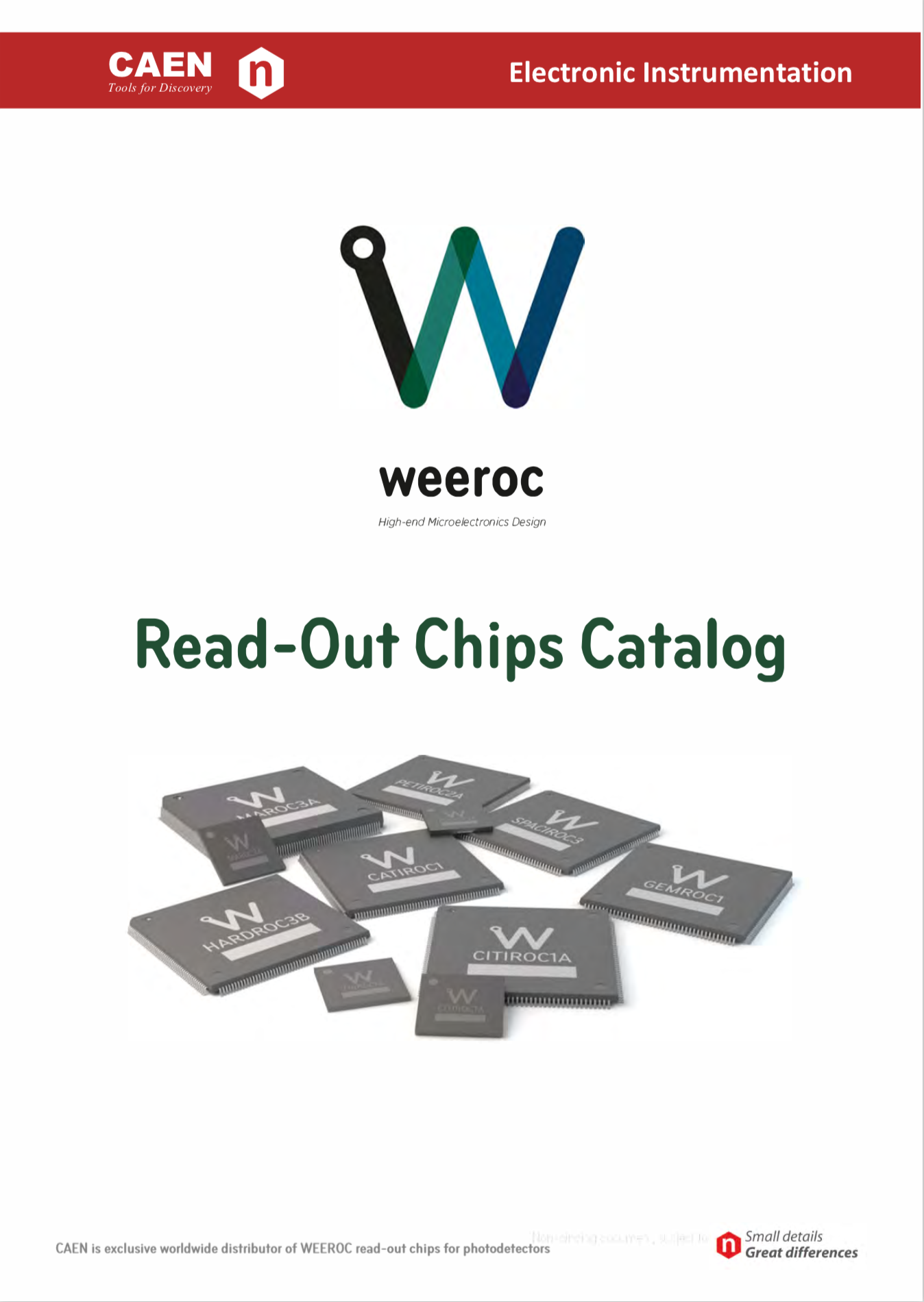 CAEN WEEROC Read-Out Chips Catalog 2018