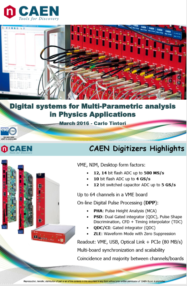 Digital systems for Multi-Parametric analysis in Physics Applications