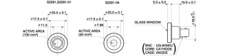Hamamatsu S2281-01 фотодіод Si, Ø11.3mm, 190 - 1000nm, BNC connector